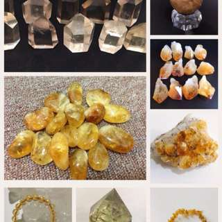 Citrine Crystals(Tumbled, Points, Pendants, Earrings)