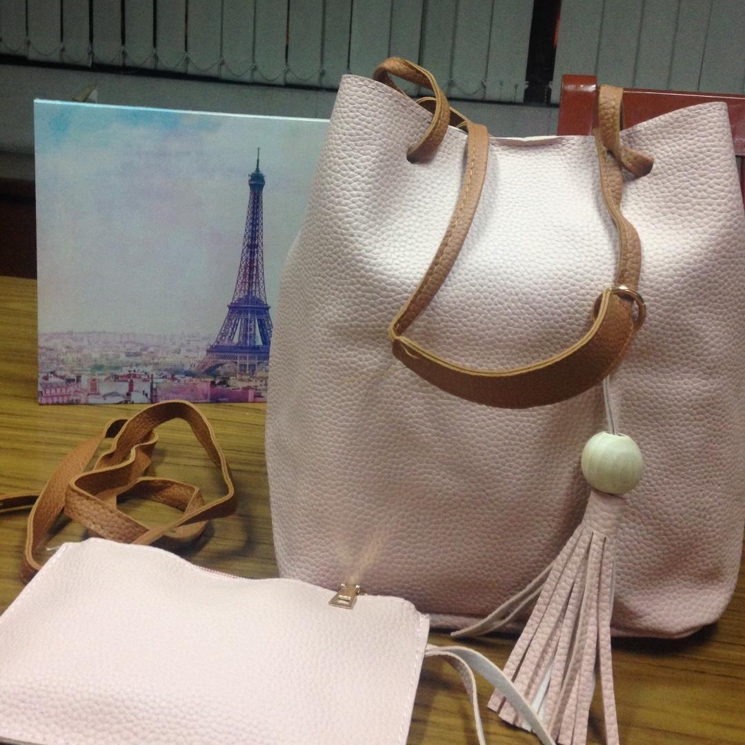 2 in 1 sling bag (pink)