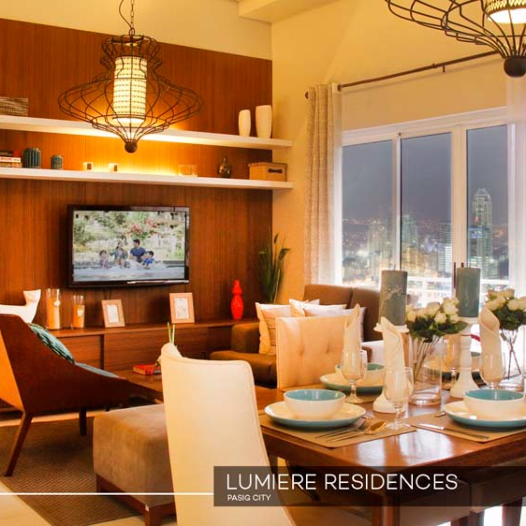 3 bedroom Condo near Estancia Mall in Pasig City Lumiere Residences