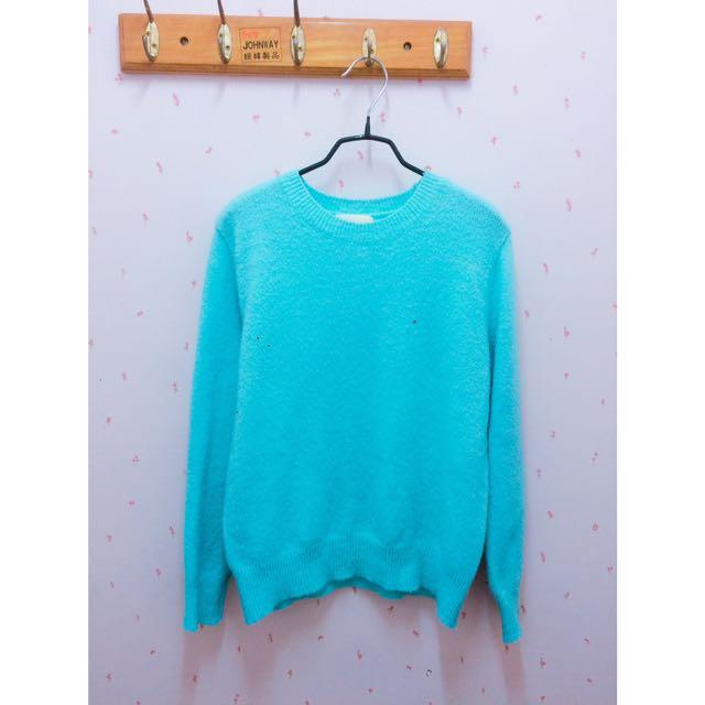 湖水藍毛衣