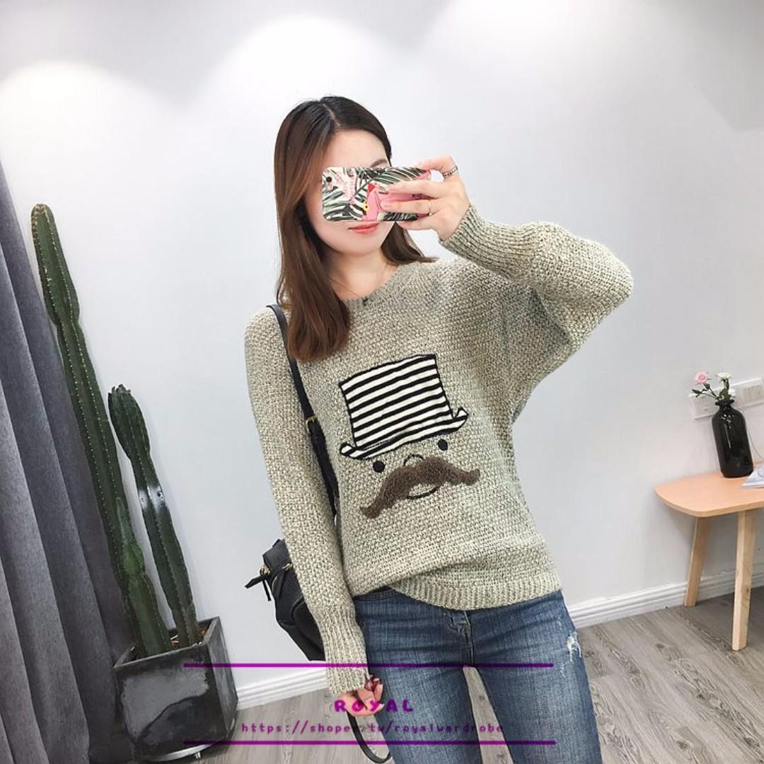 甜美個性卡通造型毛衣 N926356