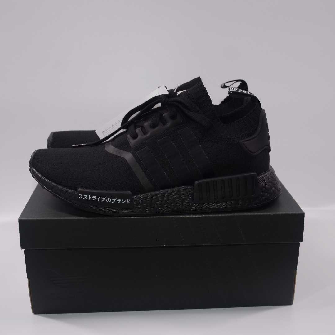4ed37deca78aa Adidas NMD R1 PK Triple Black Japan Pack