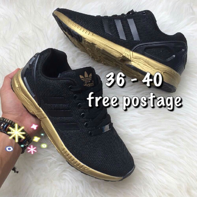 Iets Nieuws ADIDAS ZX FLUX BLACK GOLD, Women's Fashion, Shoes on Carousell @QW51