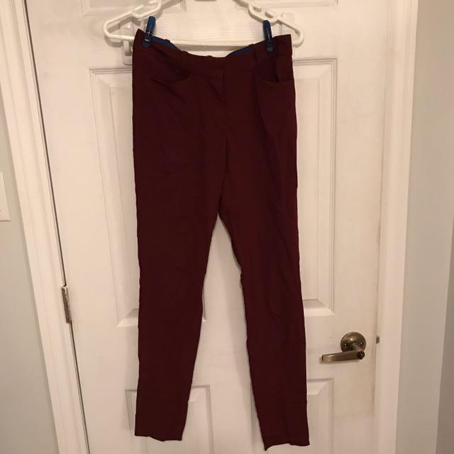 Aritzia silk trousers size 0