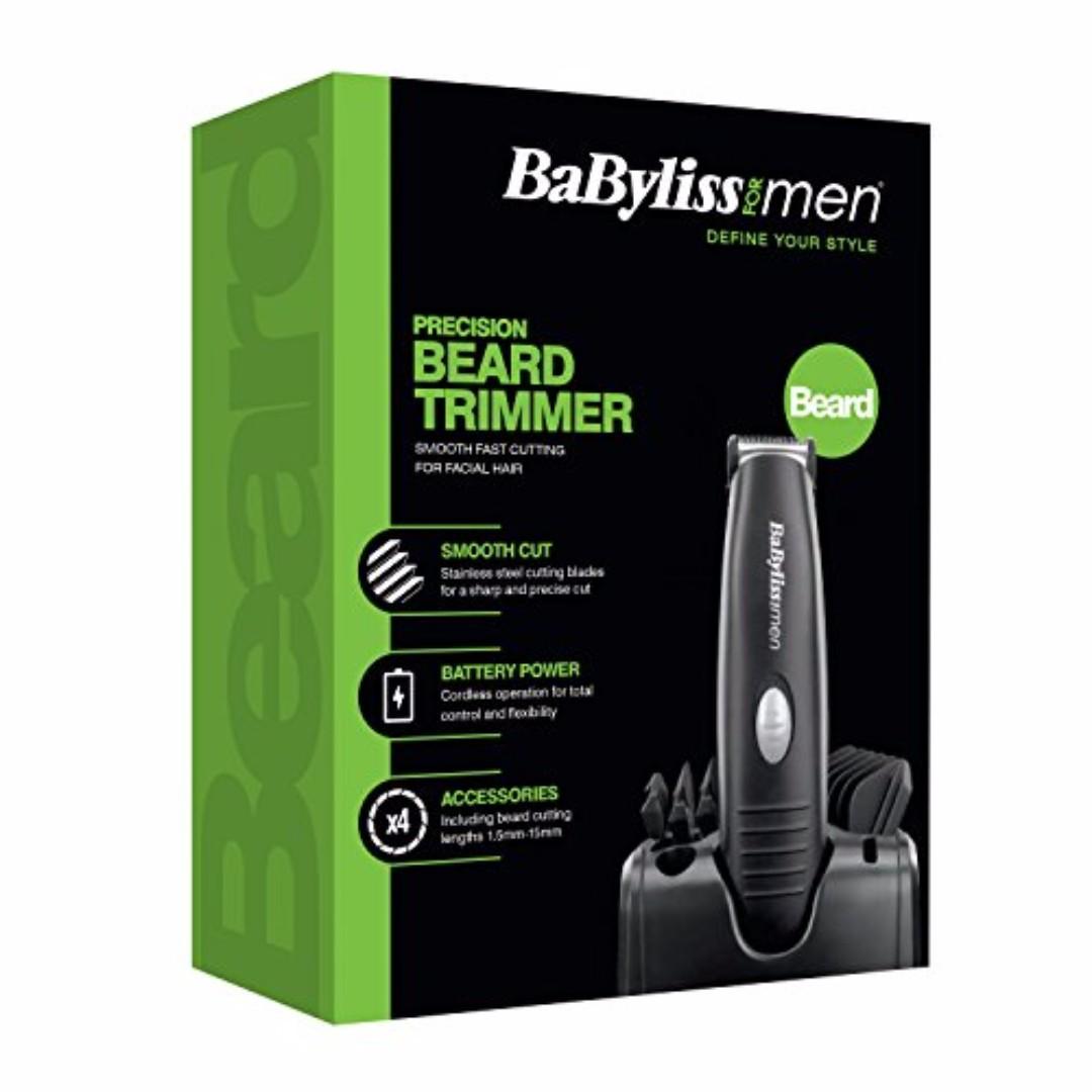 Babyliss Precision Beard Trimmer for Men - Black