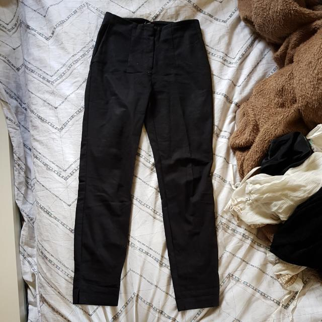 Bardot Black Highwaisted Tailored Pants