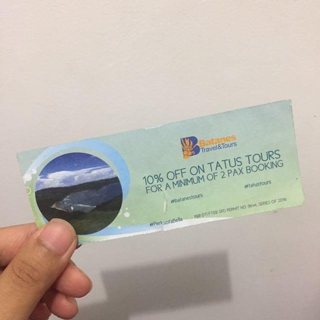 Batanes Tour Discount Voucher