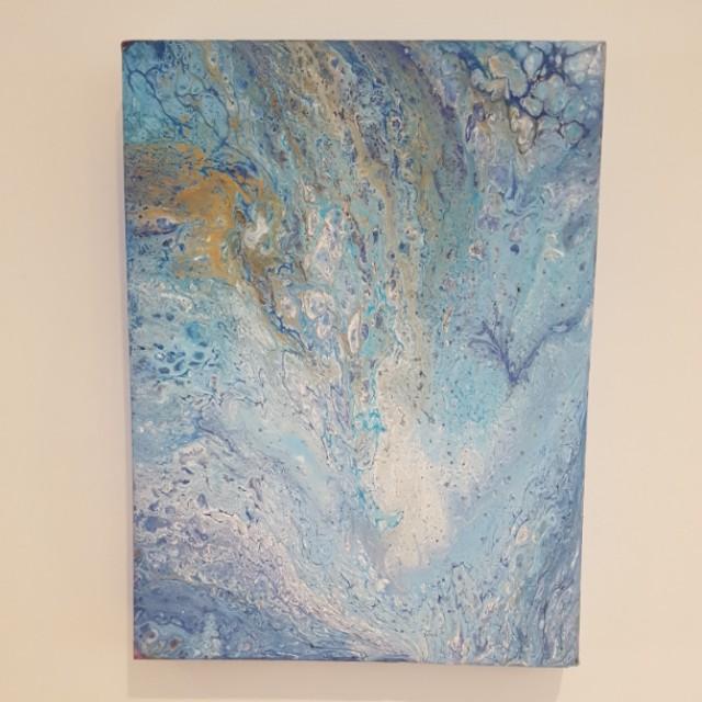 Beautiful fluid art painting