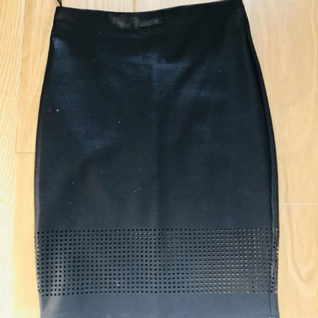 Black skirt with mesh detail size 6
