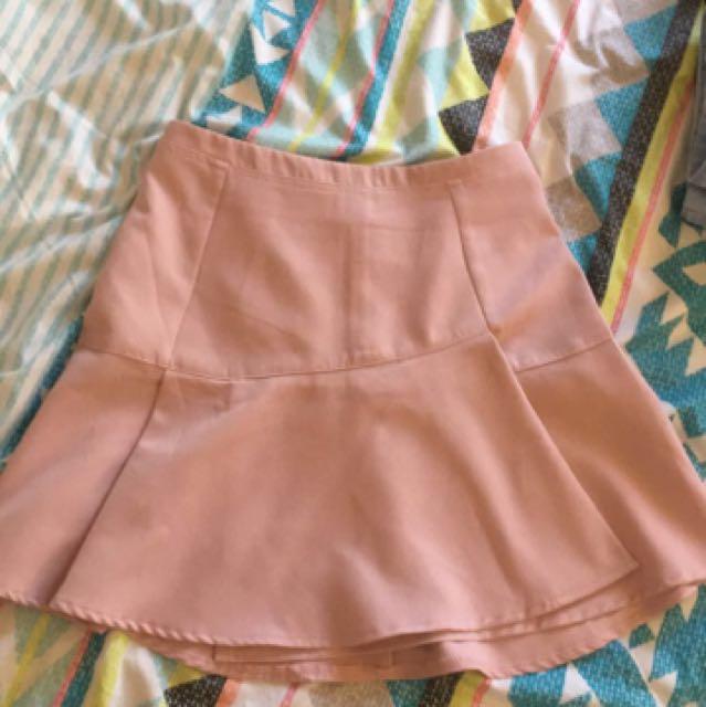 Blush pink tennis skirt