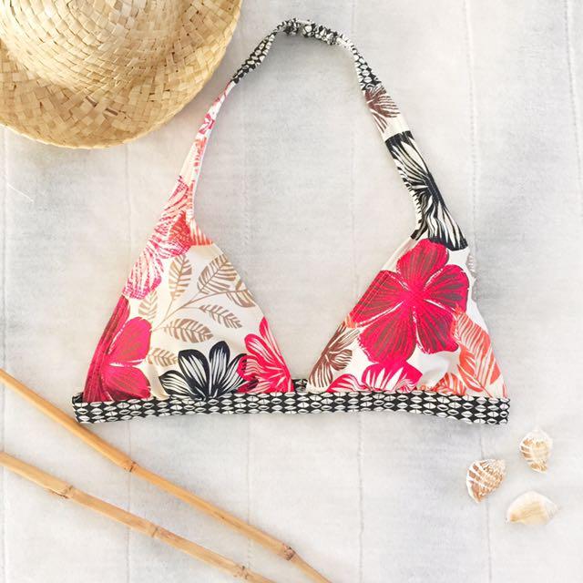 Branded bikini top