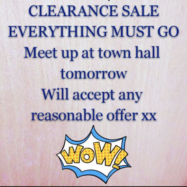 Check my page! Everything must go