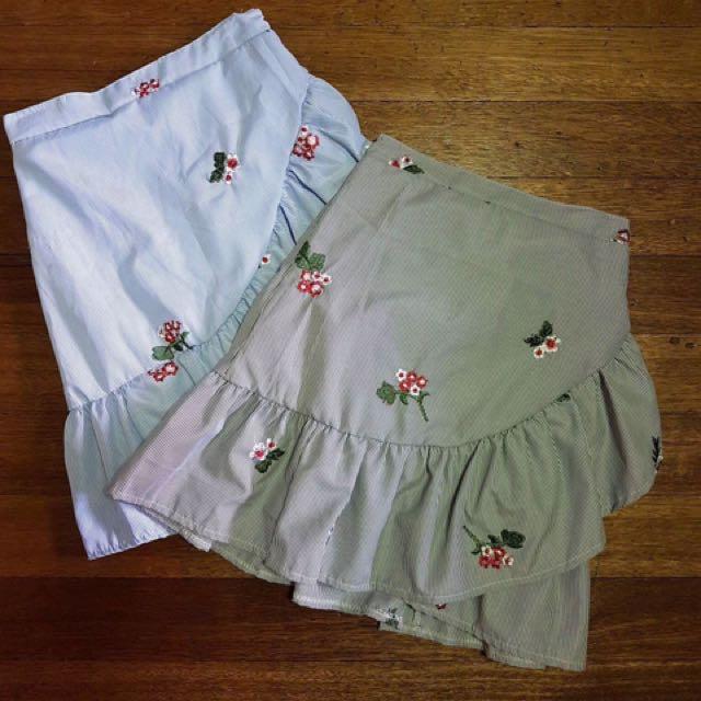 Checkered Skirt (Sold Separately)