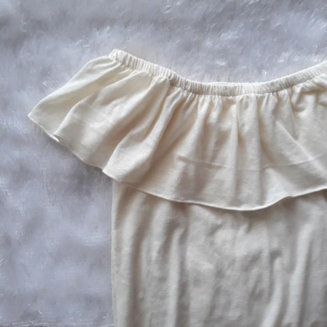 Cream white off shoulders