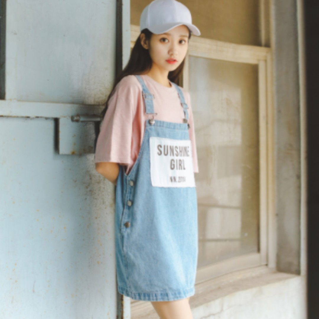 046d792169 Denim Jumper Dress