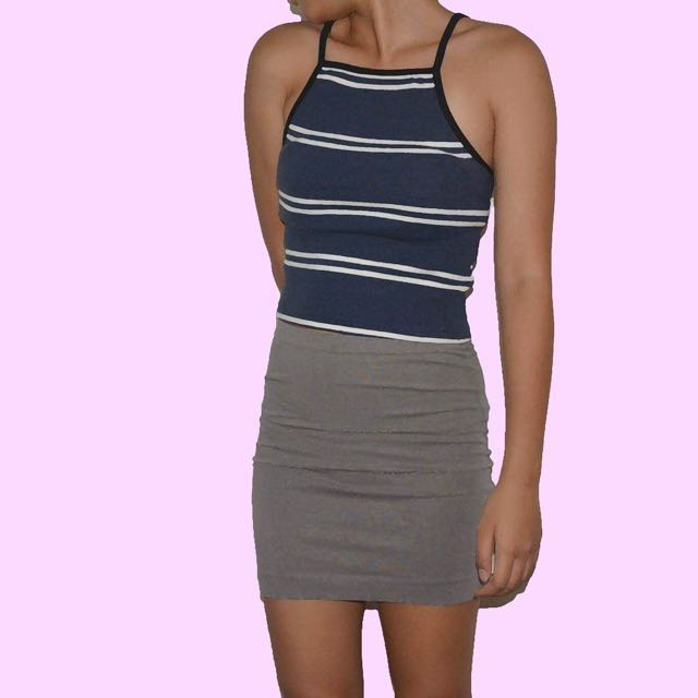 F21 Gray Bandage Skirt