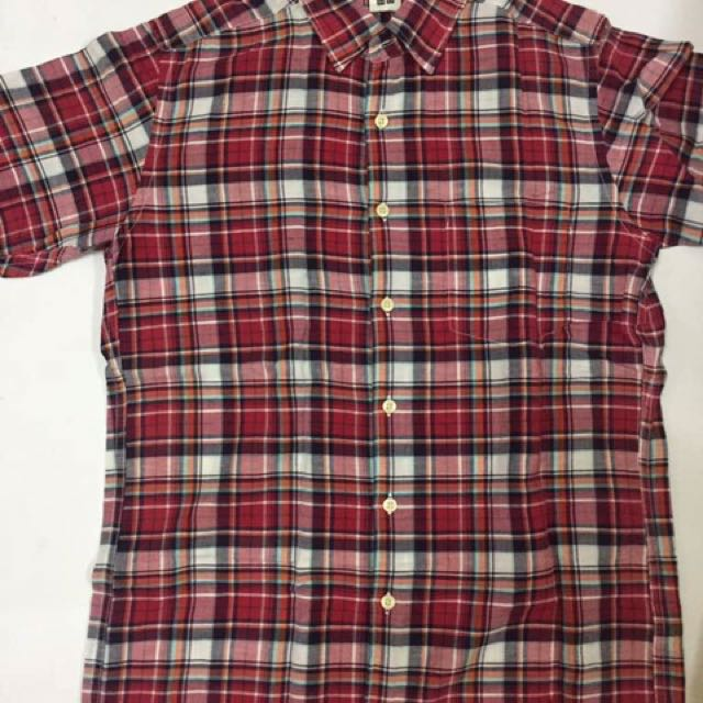 Flannel Shirt Short Sleeve Men S Fashion Clothes Tops On Carousell