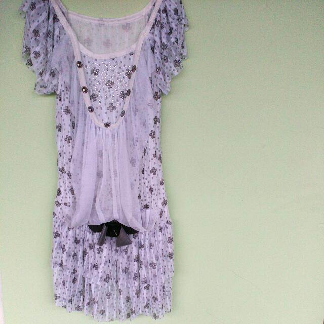 Flowers Mini Dress