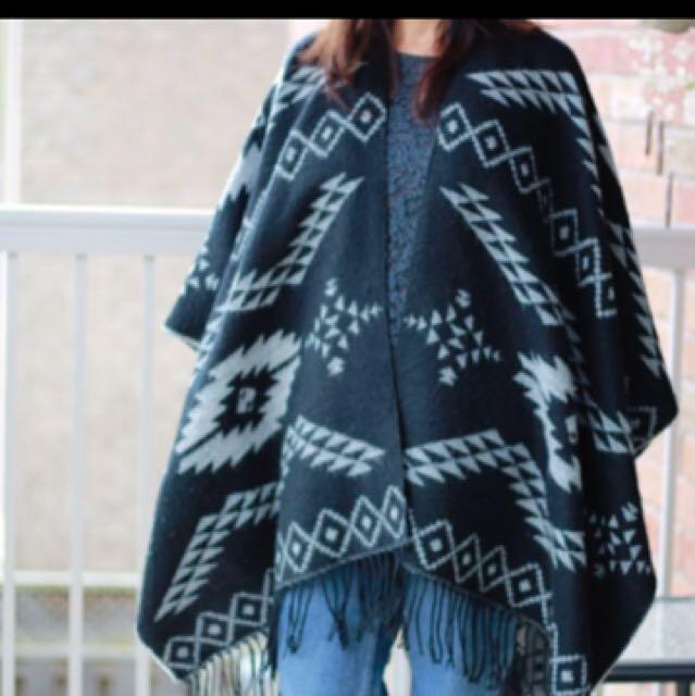 Garage poncho blanket