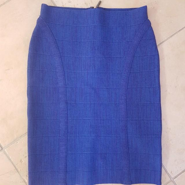 Guess Cobalt Blue Bandage Skirt