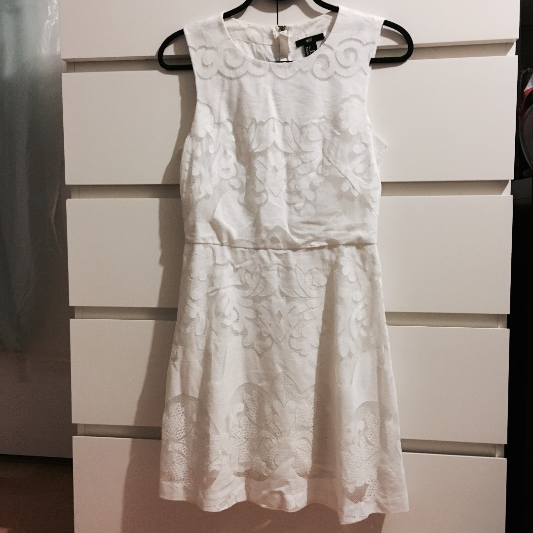 *REDUCED* H&M White Crochet Dress