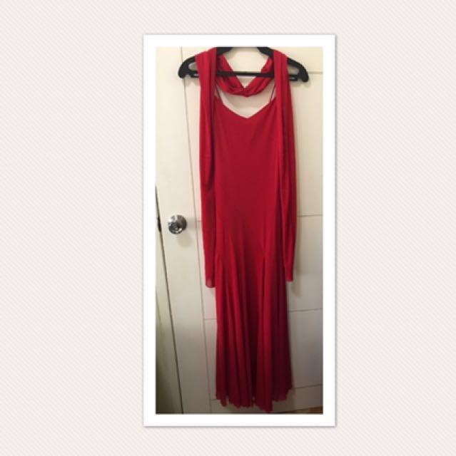 Karimadon Spaghetti Strap Long Dress