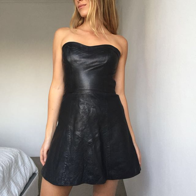 KOOKAI LEATHER DRESS - 38/10