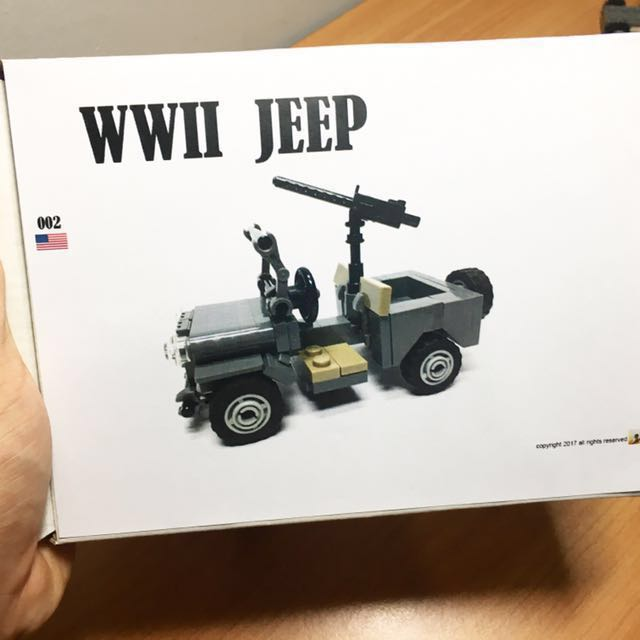 Lego Wwii Willys Jeep Toys Games Bricks Figurines On Carousell