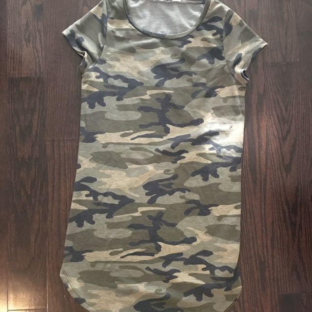 M camo long t-shirt/dress