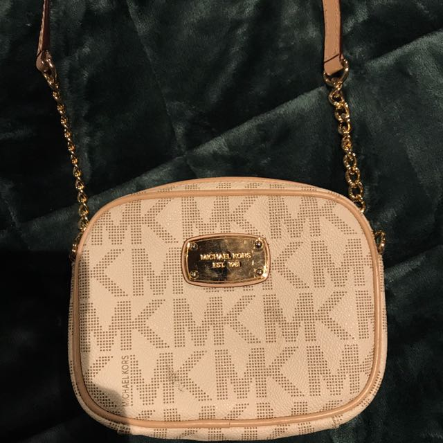 Michael Kors rose gold handbag