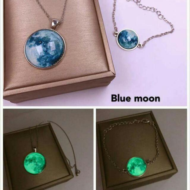 Moon Necklace and Bracelet