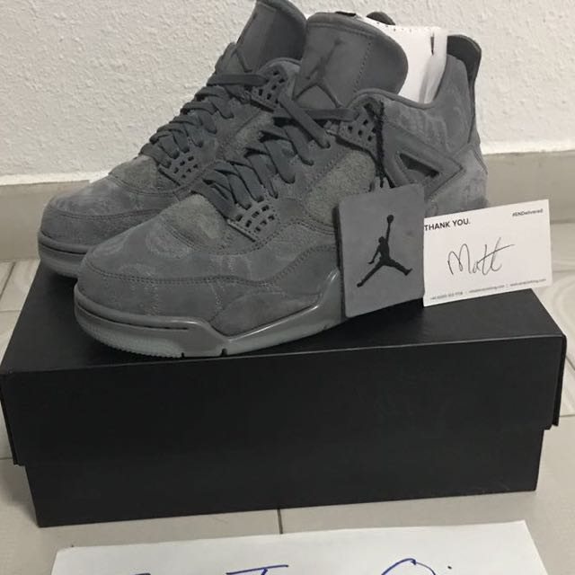 release date a63f8 f2bc3 Nike Air Jordan 4 x Kaws, Men's Fashion, Footwear on Carousell