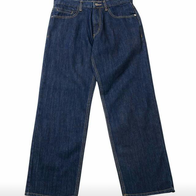 Plain-me 厚磅牛仔單寧寬褲