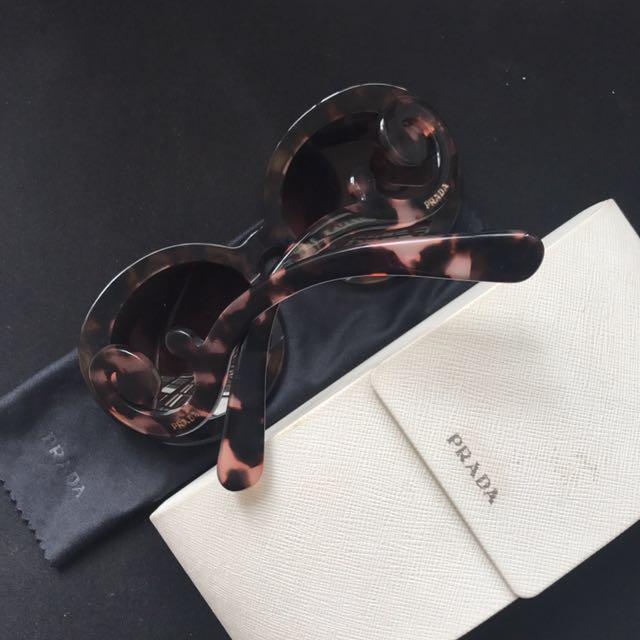 8552f103478 Prada Round Baroque Swirl Sunglasses
