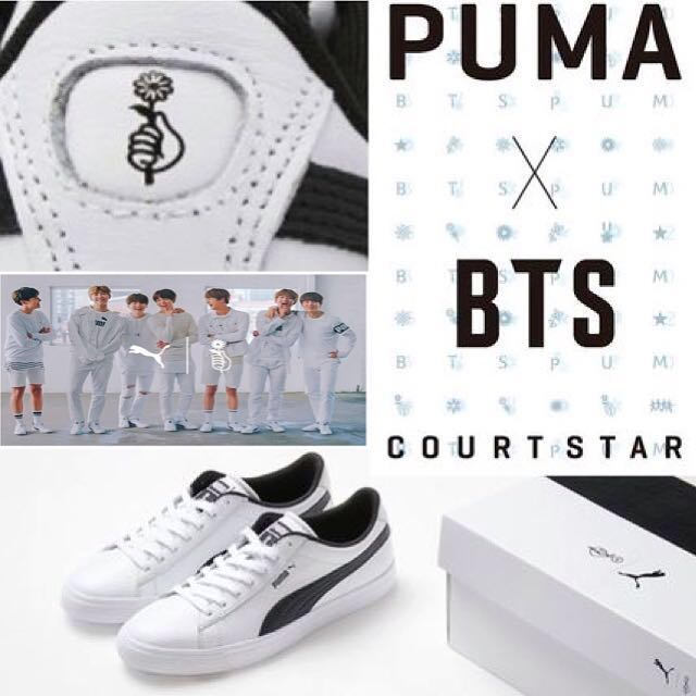 new product a3e07 77bf2 PUMA x BTS COURT STAR