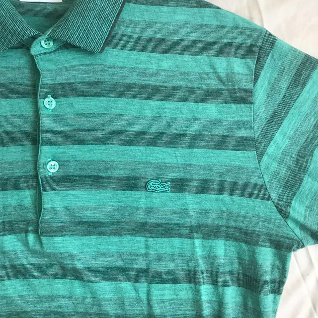 [REPRICED] Lacoste Green Striped Cotton Shirt