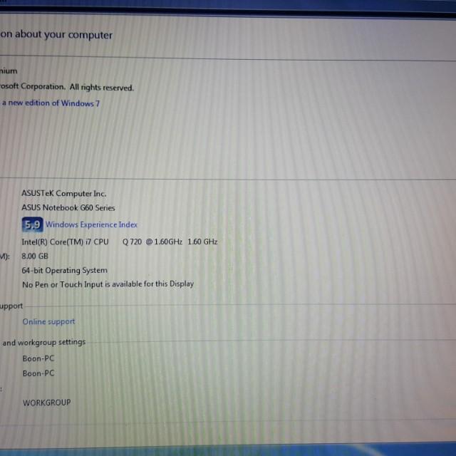ROG gamming laptop Asus