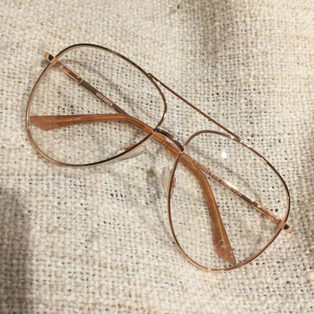 Rose Gold Aviator Glasses