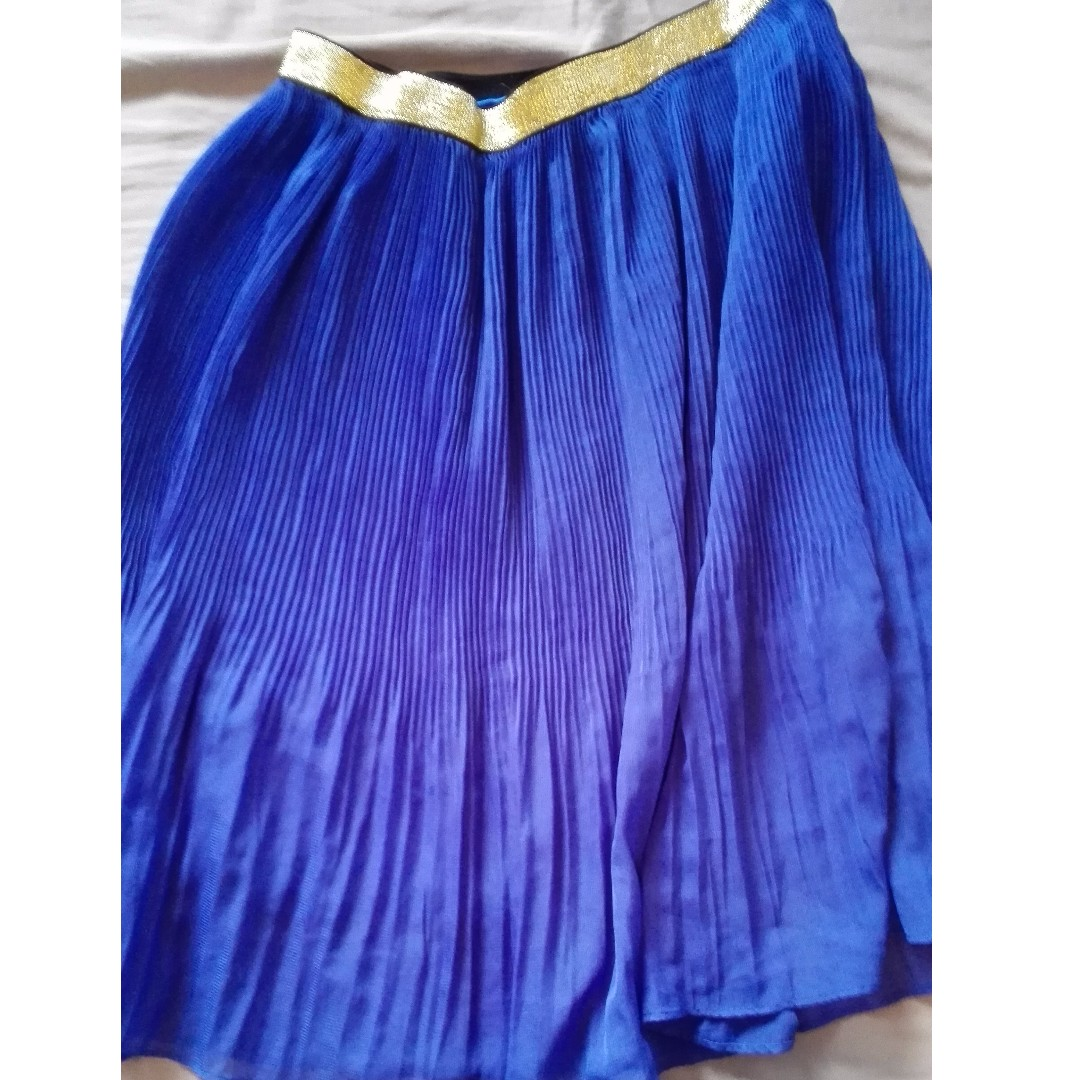 Royal blue pleated skirt- size small