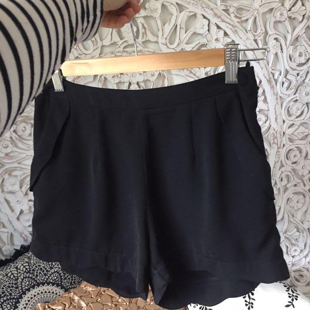 Scallop Trim Dress Shorts