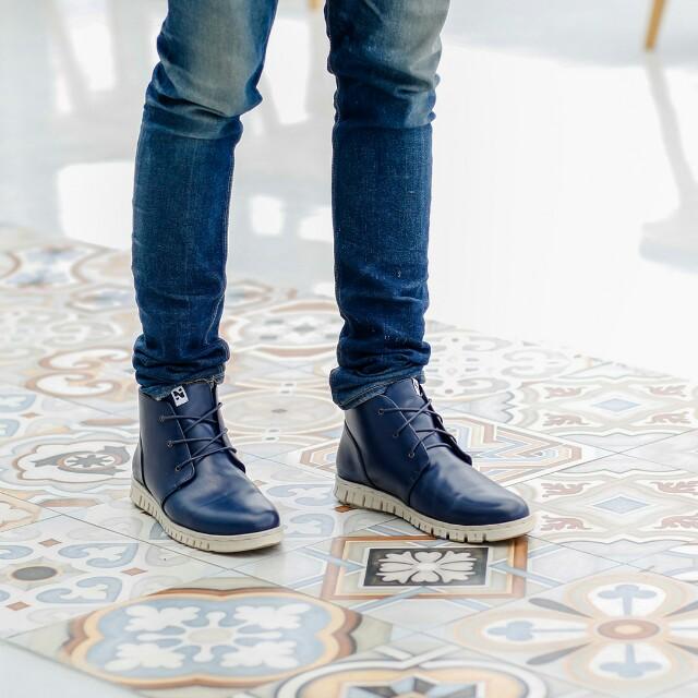 Sepatu Pria Boots Kulit Navara Paul Blue 01b2aaa7db
