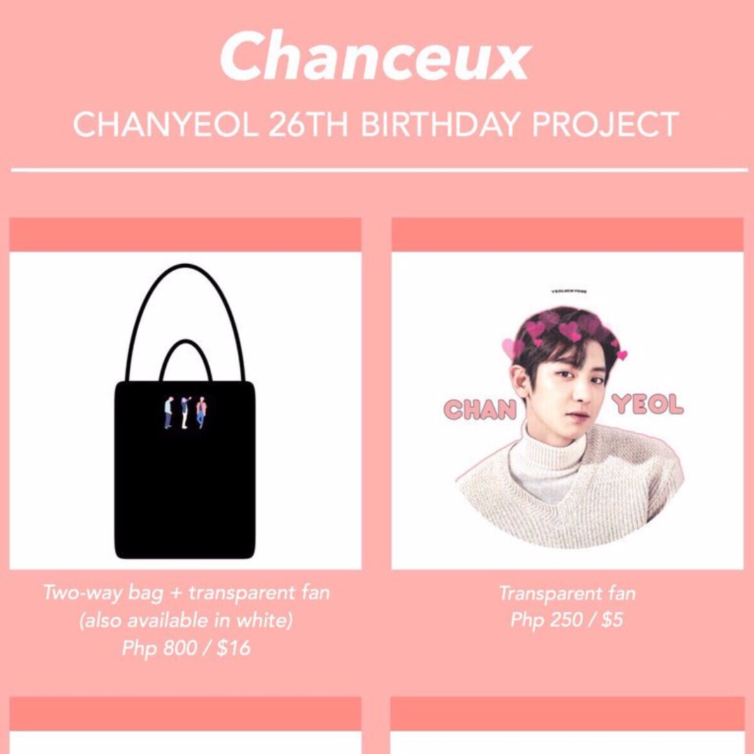 Sg Go Chanceux Chanyeol 26th Birthday Project By Yeoluckyone Entertainment K Wave On Carousell
