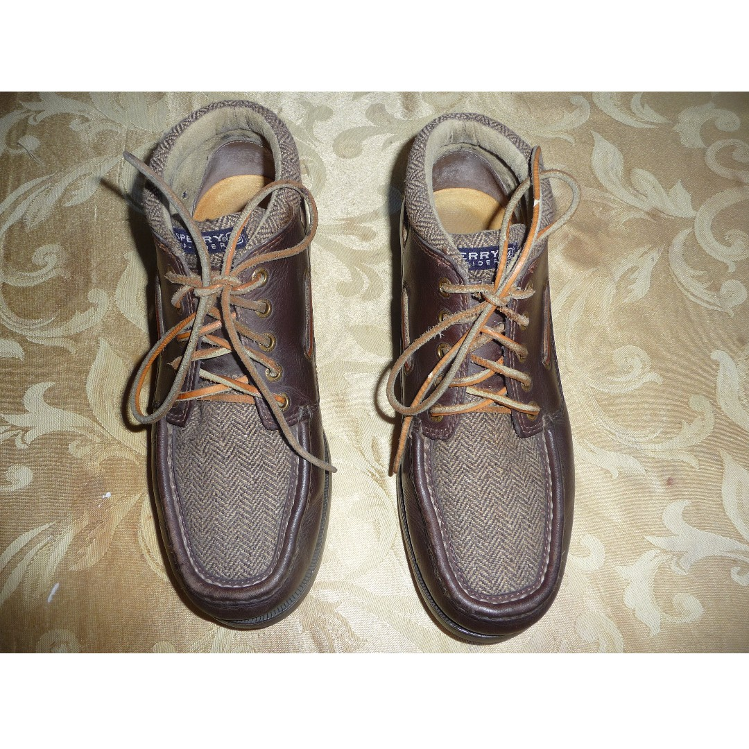 Sperry Topsider, Chuka-boots, Leather with Waterproof Cloth top, Brown, Size 8-1/2