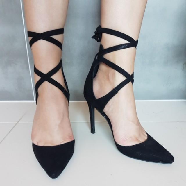 Spurr Lace Up Heels