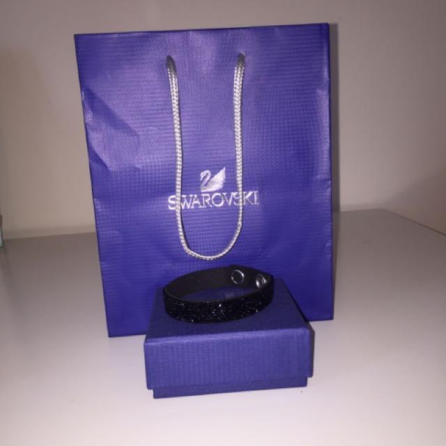 Swarovski Black Bracelet with Black Swarovski - 5 Row