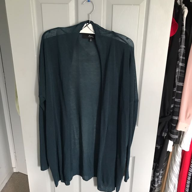 Teal cardigan (worn once)