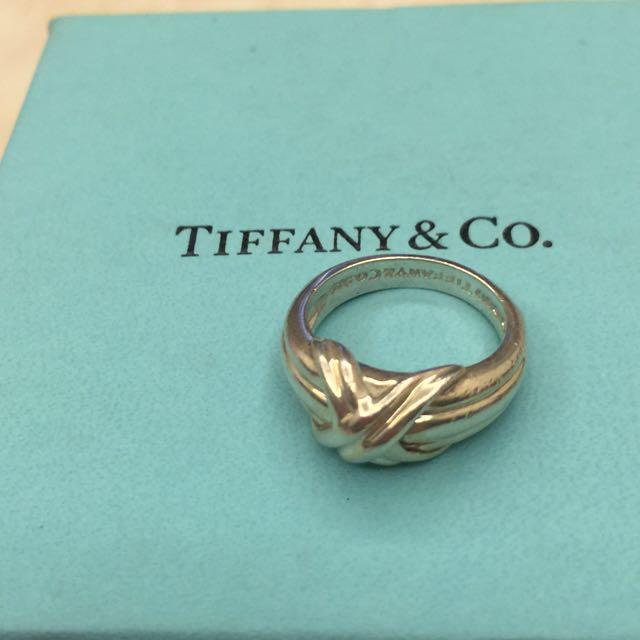 二手TIffany&Co.銀經典畢卡索X戒指