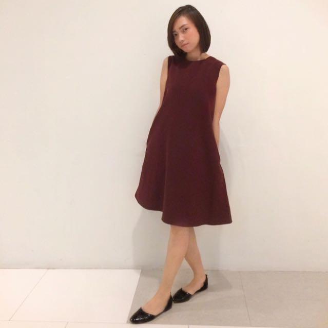 UNIQLO Maroon dress