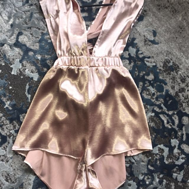 Verse satin playsuit