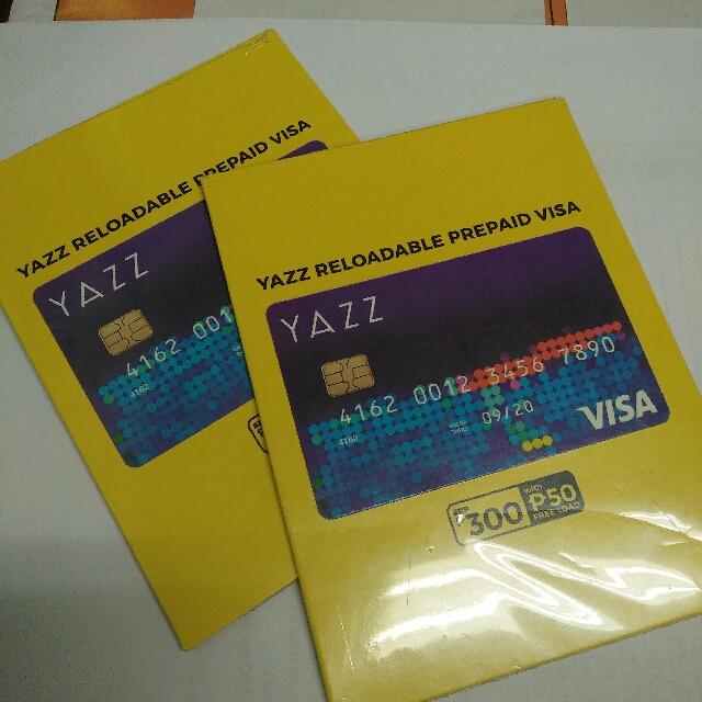 yazz reloadable prepaid visa